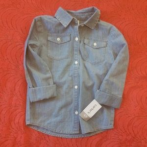 Carters Jean long sleeve shirt NWT